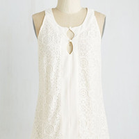 Mid-length Sleeveless Guest List Guarantee Top by ModCloth