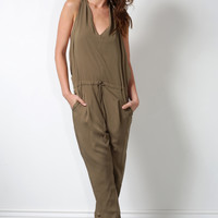 Gab & Kate Brazen Jumpsuit - Army