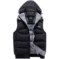 Men's Hooded 100% Cotton Vest
