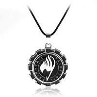 Fashion Anime Fairy Tail Logo Pendant Necklace Rotatable Charm Jewelry For Men And Women