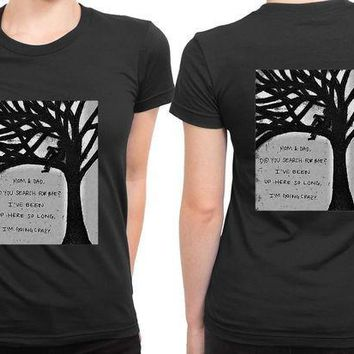 CREYH9S Pierce The Veil Hold On Till May Stand 2 Sided Womens T Shirt