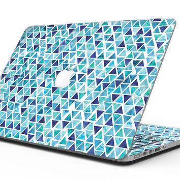 Blue Watercolor Triangle Pattern - MacBook Pro with Retina Display Full-Coverage Skin Kit