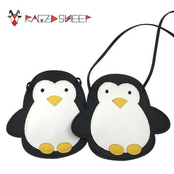 Raged Sheep Girls Small Coin Purse Change Wallet Kids Bag Coin Pouch Baby Wallet Money Holder Lovely Kid Gift Penguin Bag