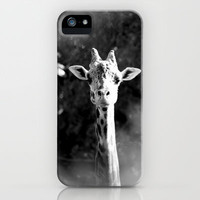 portrait of giraffe iPhone Case by Marianna Tankelevich