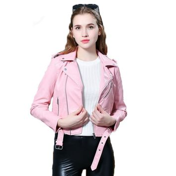Causal Faux Leather Soft Pu Jacket