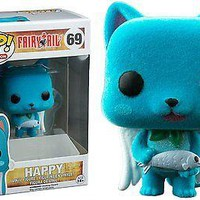 Funko Pop Animation: Fairy Tail - Happy Flocked Exclusive Vinyl Figure