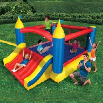 Bounce House Inflatable Kids Outdoor Super Slide n Jump Castle Party Summer Fun
