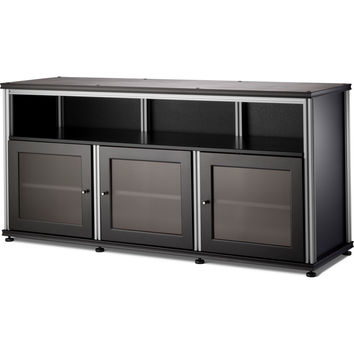 Synergy 65 Inch TV Stand Tall Cabinet Center Opening 4 Finishe Black Inch Tv Stand K27