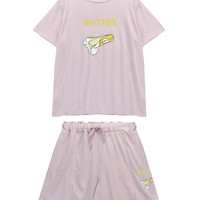 T-shirt and Shorts Two Pieces Set