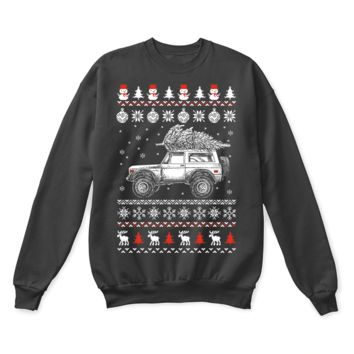 ESBINY Ford Bronco Brings Christmas Home Ugly Sweater