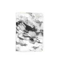 Marble Granite Pattern Leather Passport Cover - Vintage Passport Wallet - Travel Accessory Gift - Travel Wallet for Women and Men _Mishkaa