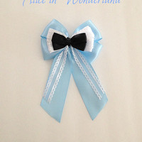 Disney inspired Alice in Wonderland hair bow