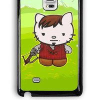Samsung Galaxy Note Edge Case - Hard (PC) Cover with Daryl Dixon Hello Kitty The Walking Dead Plastic Case Design