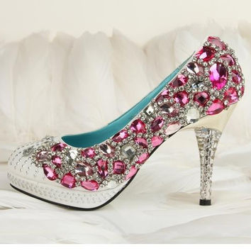 Hand sew princess crystal shoes party shoes, Christamas shoes