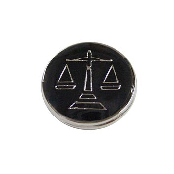 Black Scale of Justice Magnet