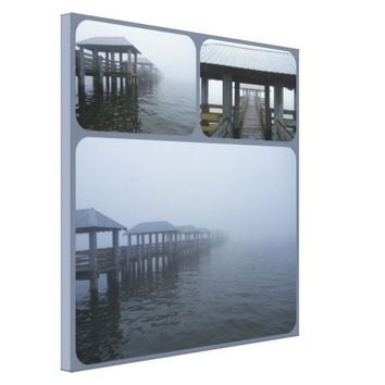 Fog Rolling In 2 Landscape Canvas Print