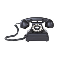 Rotary Executive Table Phone in Black