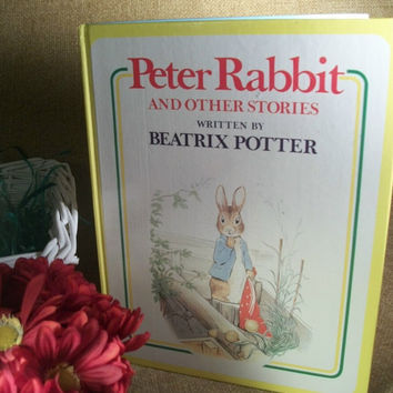 Beatrix Potter Peter Rabbit and Other Stories Illustrated Book for Children 1977 Hardcover Anniversary Edition Easter Spring Animals