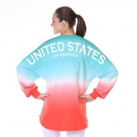 Ombre United States of America Spirit Football Jersey®