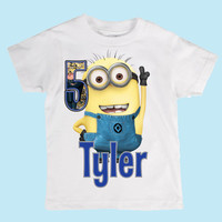 Personalized Despicable Me Minions Birthday Kids t shirt