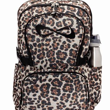 Nfinity Leopard Sparkle Backpack | Team Cheer | girls got game