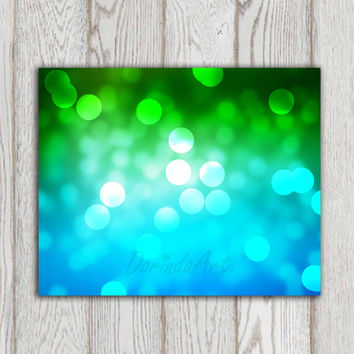 Bathroom printable Green Blue Turquoise home decor Wall print Photo background Bokeh poster Photo overlay Home decor poster INSTANT DOWNLOAD