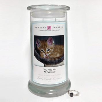 "You Had Me At ""Meow!"" - Jewelry Greeting Candles"