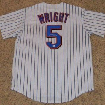 CREYONY David Wright Signed Autographed New York Mets Baseball Jersey (PSA/DNA COA)