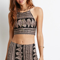 Ornate Paisley Crop Top