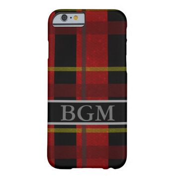 Flannel Phone Case with Monogram Barely There iPhone 6 Case