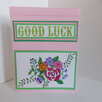 Good Luck - For Her - Flowers and Vine - Graduation - College - High School - Moving Away - Inside Blank -