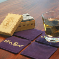 Father of the Groom  -  Whiskey Stones - Wine Stones - Whiskey Rocks  Drink Stones Custom Engraved Wood Box