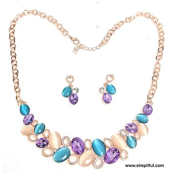 Austrian Crystal Statement Necklace n Earring set