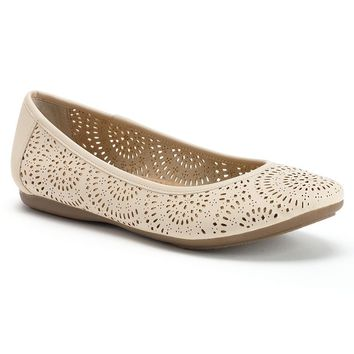 SONOMA life + style Women's Cutout Ballet Flats