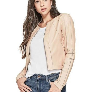 Ivonne Faux-Leather Jacket at Guess