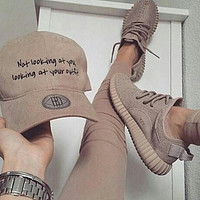 fashion adidas yeezy boost solid color leisure sports shoes