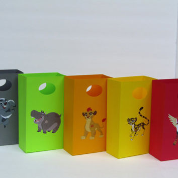 10 The Lion Guard Party Favor Bag - Candy Bag - Treat Bag - Goodie Bag - The Lion Guard Boy/Girl Birthday Bag -The Lion Guard Gift Favor Bag