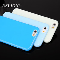 For iPhone 5 5s 5C SE 6 6s 7 7 Plus Case Fashion Candy Color Ultrathin Soft TPU Silicone Phone Cover Back Cases Capa For iphone7