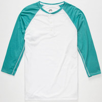 Nike Sb Dri-Fit Mens Henley White/Blue  In Sizes