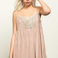 Loose Fit Lace Baby Doll Cami