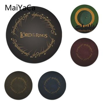 MaiYaCa  The Lord of the Rings Gandalf The Fellowship Laptop Computer Mousepad Size for 22X22cm Round Gaming Mousepads