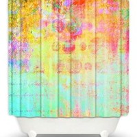 DiaNoche Designs Shower Curtains by China Carnella Unique, Cool, Fun, Funky, Stylish, Decorative Home Decor and Bathroom Ideas - Hybrid Ocean