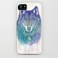 I Dream of Wolf iPhone & iPod Case by Rachel Caldwell