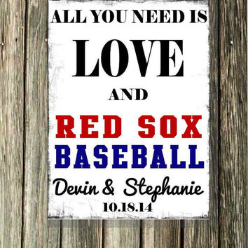 All You Need is Love and Baseball, Personalize with your favorite team of any sport, NFL, NBA, NHL, College Team,  Groom Gift
