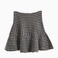 Houndstooth Flare Knitted Skirt - Choies.com