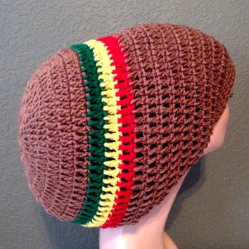Unisex Crochet Rasta Hat. Dreadlocks Hat. Bob Marley Hat. FREE shipping anywhere in USA