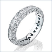Gregorio 18K White Gold Diamond Wedding Band R-1219