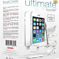 The Ultimate Bundle for iPhone 5 / 5s / SE - Apple MFi Certified Lightning Cable, Wall Charger, Car Adapter, Earbuds, TPU Case, Screen Guard and More