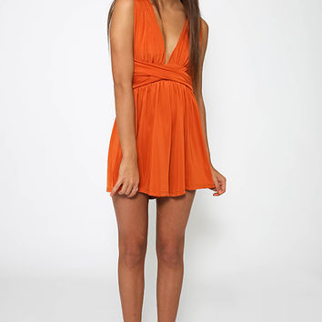 Glitch Playsuit - Burnt Orange