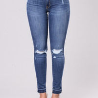 Stand Back Jeans - Dark Wash
